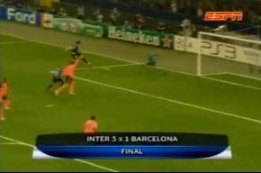 Матч  «Интер» –  «Барселона» закончился победой «Интера»