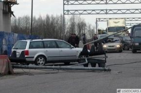 Два светофора упали на Красносельском шоссе