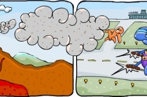 Петербуржцам покорился злополучный исландский вулкан