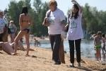 Мусор на озере убирали все: Фоторепортаж