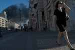 Фоторепортаж: «Виновники пожара на Бадаевских складах скрылись»