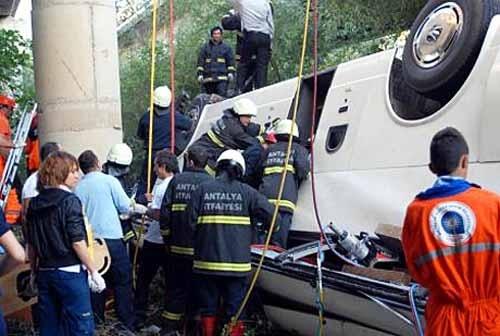 Автобус с российскими туристами разбился в Анталье. 16 погибших (фото): Фото