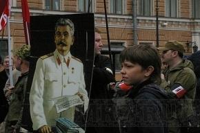 На Московском проспекте появились плакаты со Сталиным