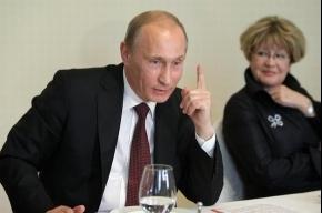 Путин обсудил «Охта-центр» и митинги протеста
