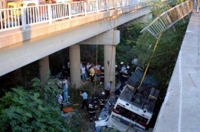 Автобус с российскими туристами разбился в Анталье. 16 погибших (фото)