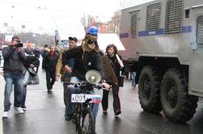 В первомайской демонстрации в Петербурге приняли участие безработные с мигалками