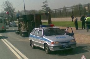 ДТП у Константиновского дворца: маршрутка врезалась в самосвал