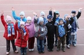 Маленькие фанаты вывели «Зенит» на матч с Нальчиком