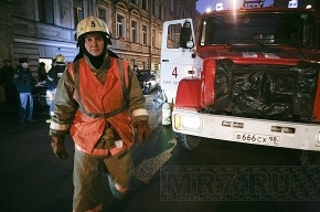 Сегодня утром горел Обуховский завод