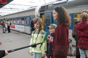 В Петербург приехали дети со всей России