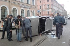 На Садовой перевернулась машина ГИБДД (фото)