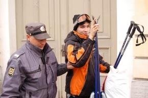 Милиция разогнала группу лыжников