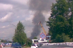 Дым над Петербургом: горит ресторан