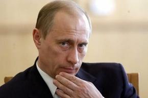 У машины кортежа Путина лопнуло колесо