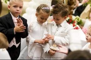 В Петербурге сыграли свадьбу маленьким детям
