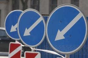 Движение по набережной Шмидта и Московскому проспекту ограничили дорожные работы