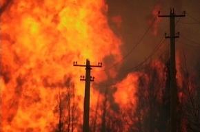 Утром в Петербурге горели гаражи