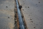 Жара расплавила прокладку под трамвайными рельсами (ФОТО): Фоторепортаж