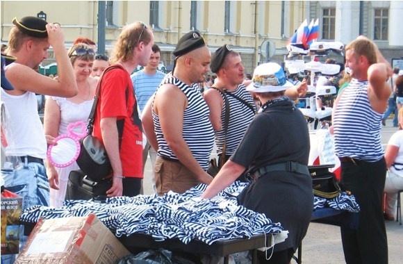 Петербург отмечает День ВМФ: Фото