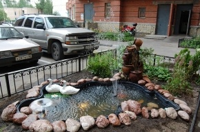 Как сделать фонтан во дворе за два дня