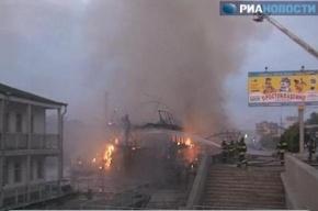 В Москве горел плавучий ресторан. Тушили даже с воды