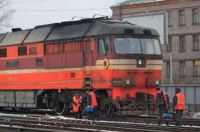 Поезда опаздывают из-за бури в Ленобласти