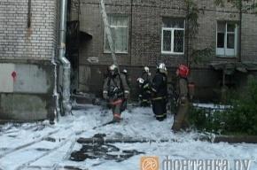 В Выборгском районе сгорела подстанция