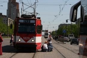 На Лиговке жара расплавила резиновые подложки под трамвайными путями