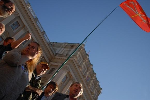 На Исаакиевской площади прошёл несанкционированный митинг: Фото