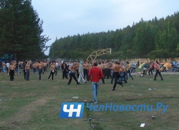 Побоище под Миассом: Есть задержанные и пострадавшие: Фото