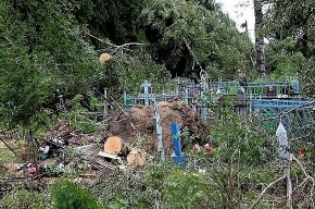 В деревне Севастьяново ураган «взорвал» кладбище