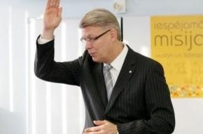 Президент Латвии ответил Лужкову за язык. На латышском