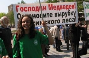 В Петербурге пройдет пикет в защиту Химкинского леса