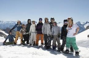 Петербургские сноубордисты поднялись в Альпах