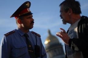 На Исаакиевской площади прошёл несанкционированный митинг