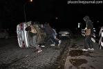 Фоторепортаж: «Активисты «Войны» перевернули милицейский автомобиль»