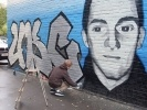 В память о друге ребята нарисовали граффити: Фоторепортаж