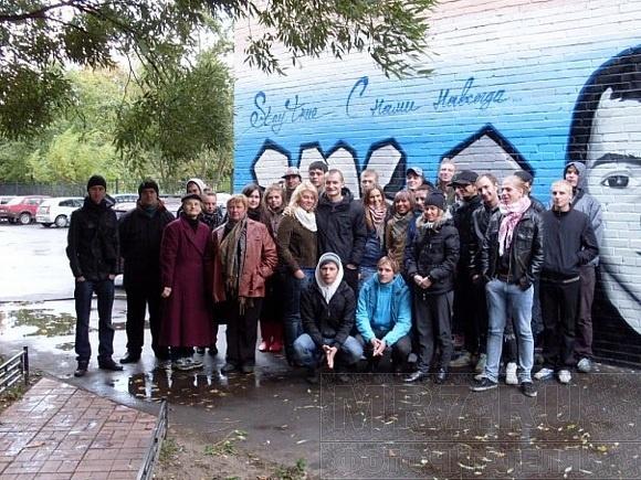 В память о друге ребята нарисовали граффити: Фото