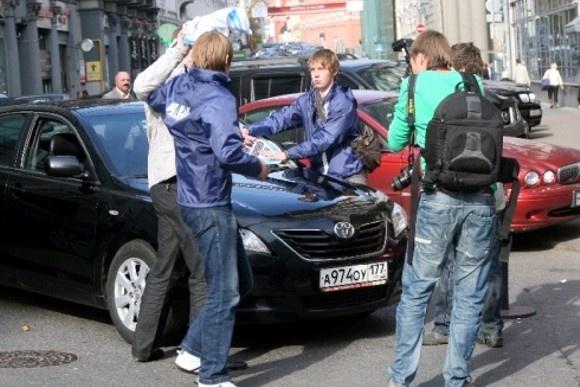В Москве автомобилисты побили «нашистов»: Фото