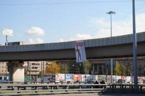 «Наши» повесили в Москве плакаты с полуголым Митволем