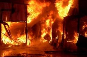 В Иркутске сгорел рынок