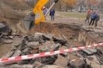 Более 20 домов из-за аварии в Петербурге - вновь без тепла: Фоторепортаж