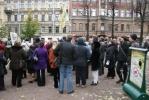 В Петербурге прошел пикет в защиту дома Юргенса: Фоторепортаж