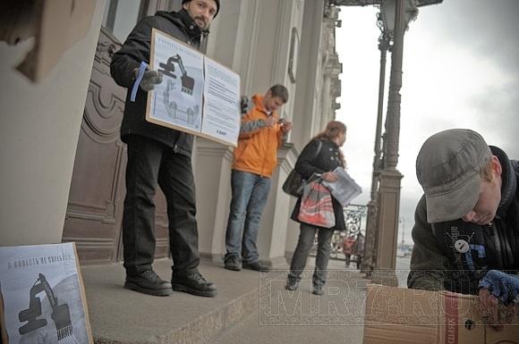 В Петербурге прошли пикеты против строительства «Охта-Центра»: Фото