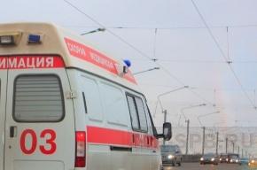На трассе Санкт-Петербург-Псков большая пробка