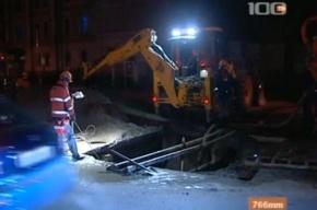 В Петербурге продолжают лопаться трубы