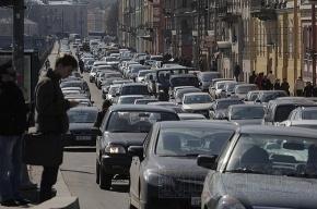 Внимание! Пробки в районе метро Нарвская будут еще две недели