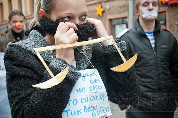 В Петербурге прошел пикет в поддержку Григория Чекалина: Фото