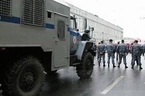 Коммунисты пытаются пройти к Смольному. Милиция их не пускает
