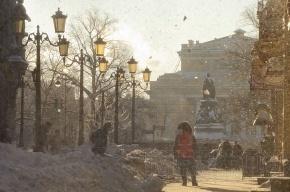 Сегодня в городе сильный снег и метель